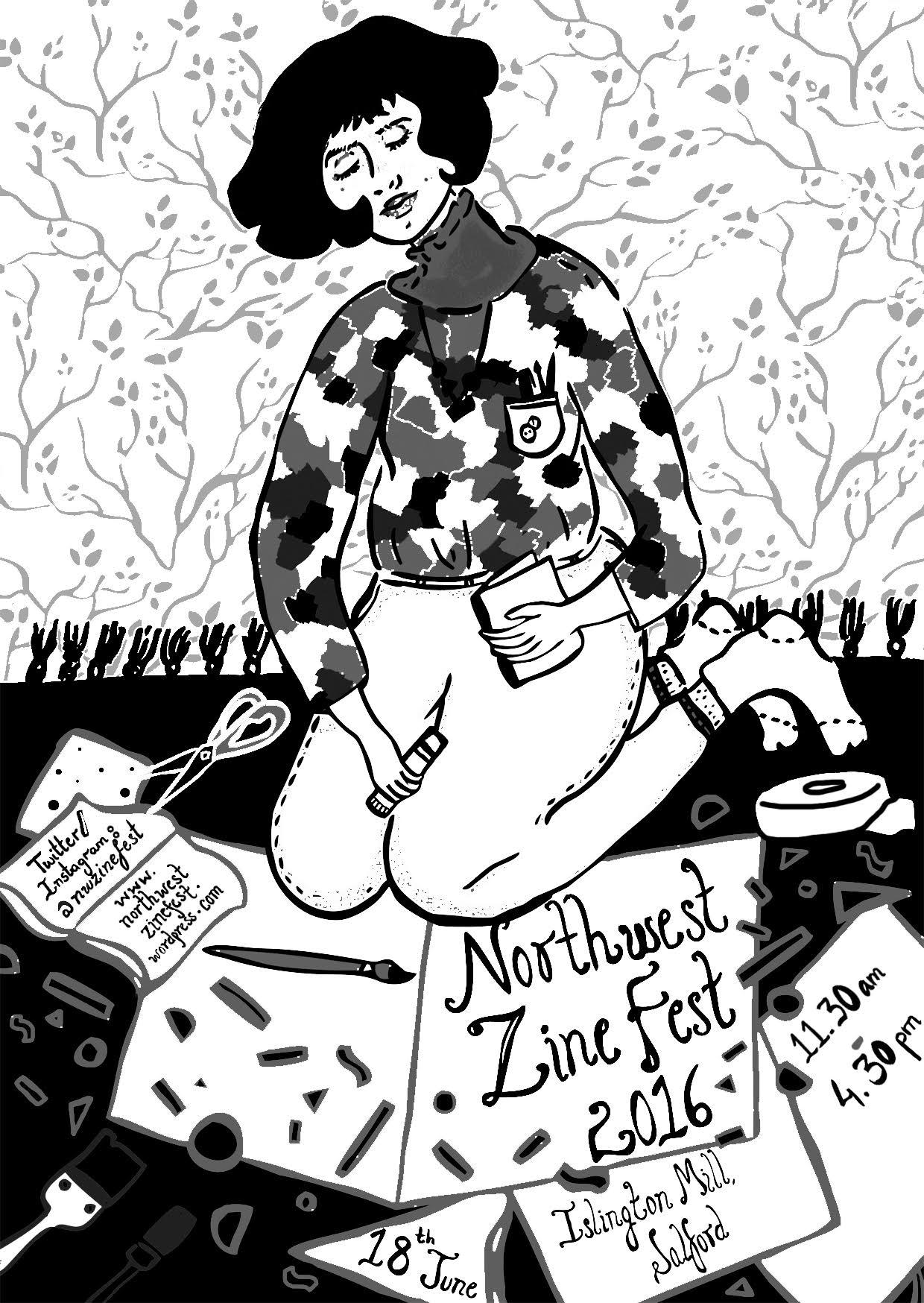 Northwest Zinefest 2016 flyer